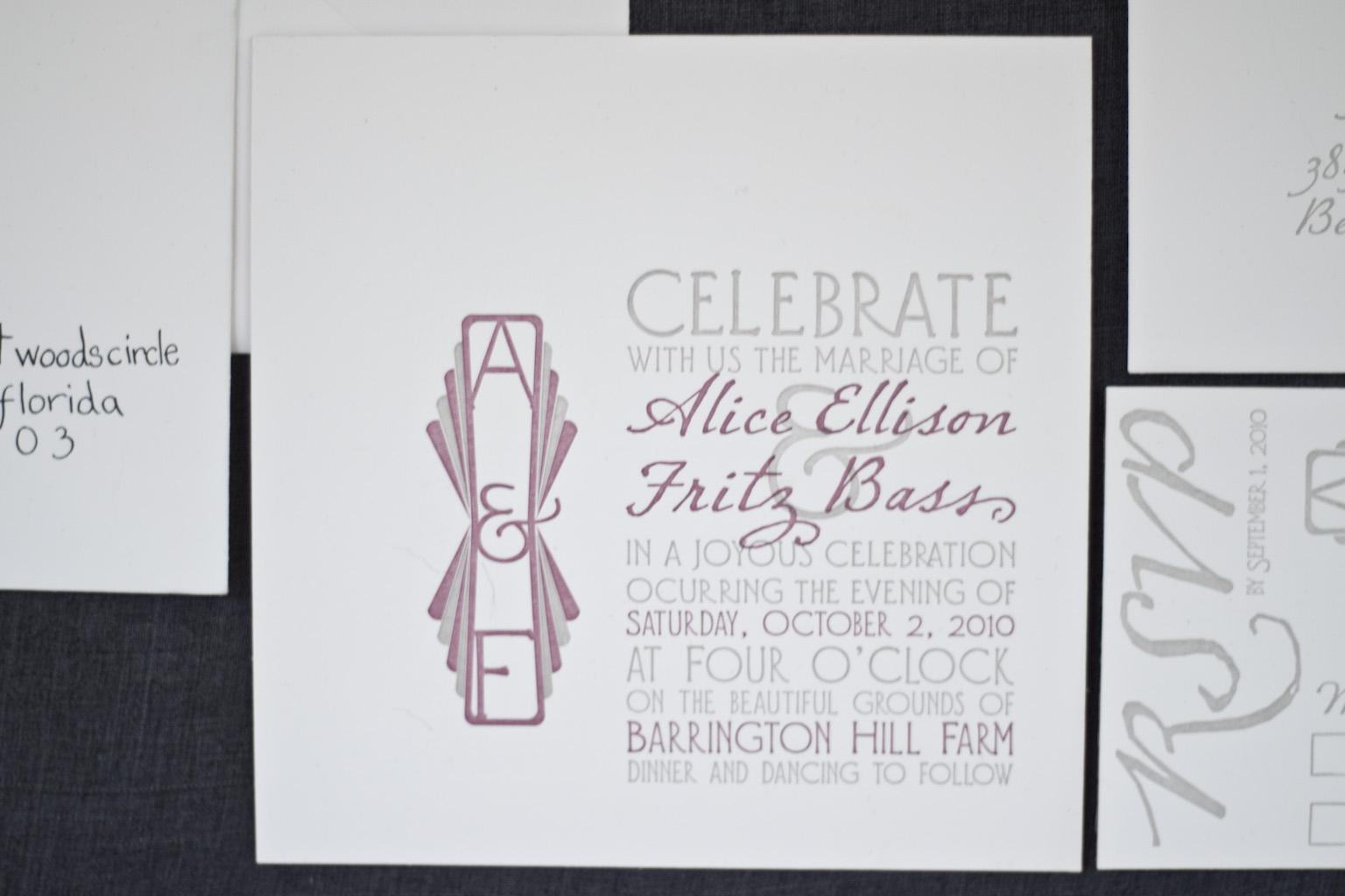 wood and paper - Barrington Hill Invitation - A Fine Press