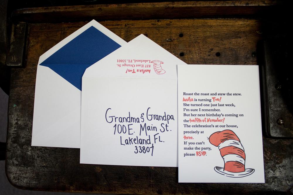 annika – Letterpress Party Invitations