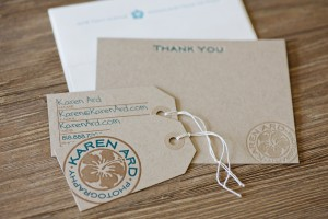 Karen's kraft stationery suite (with a contrasting envelope)