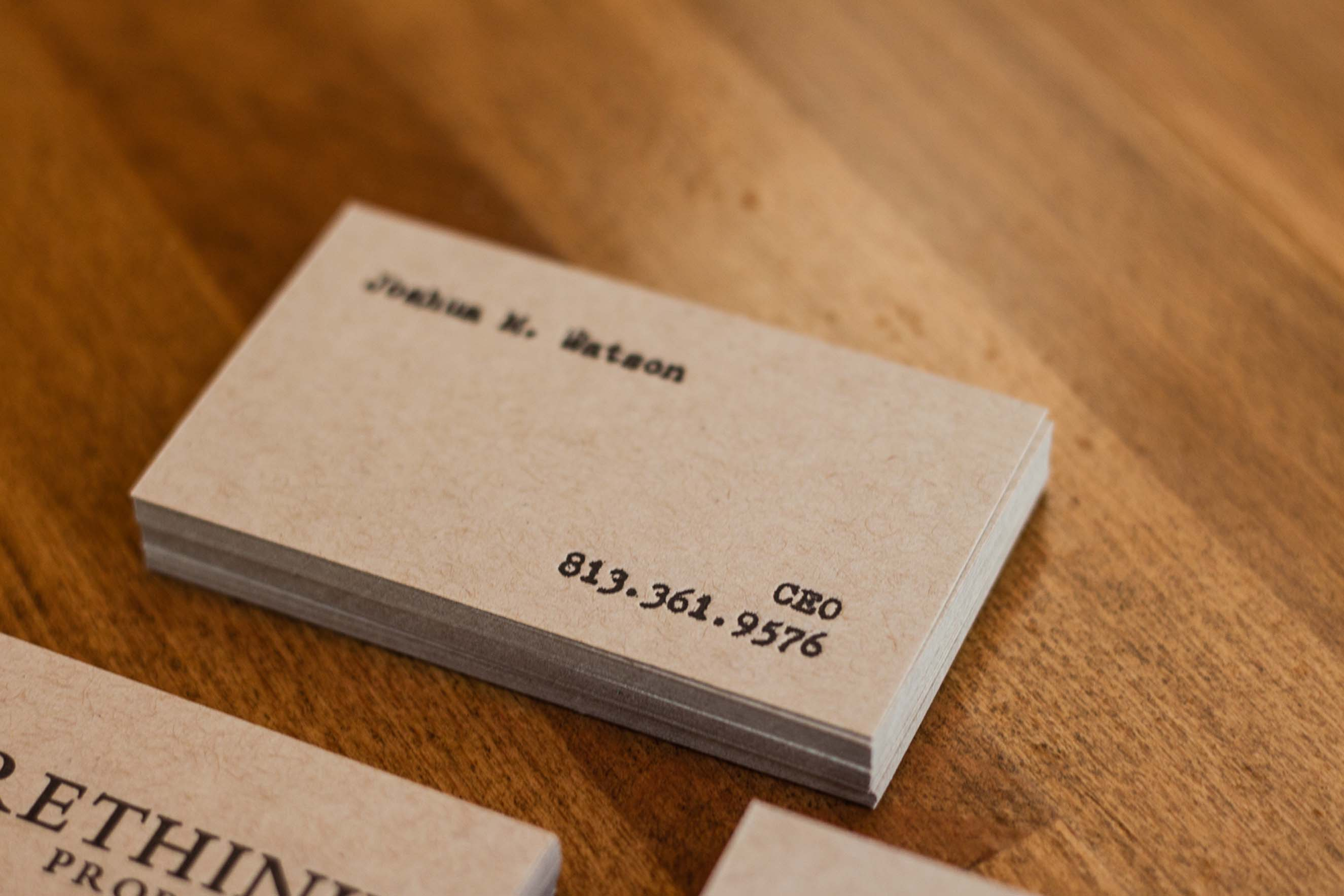 A Pair of Letterpress Business Cards - A Fine Press
