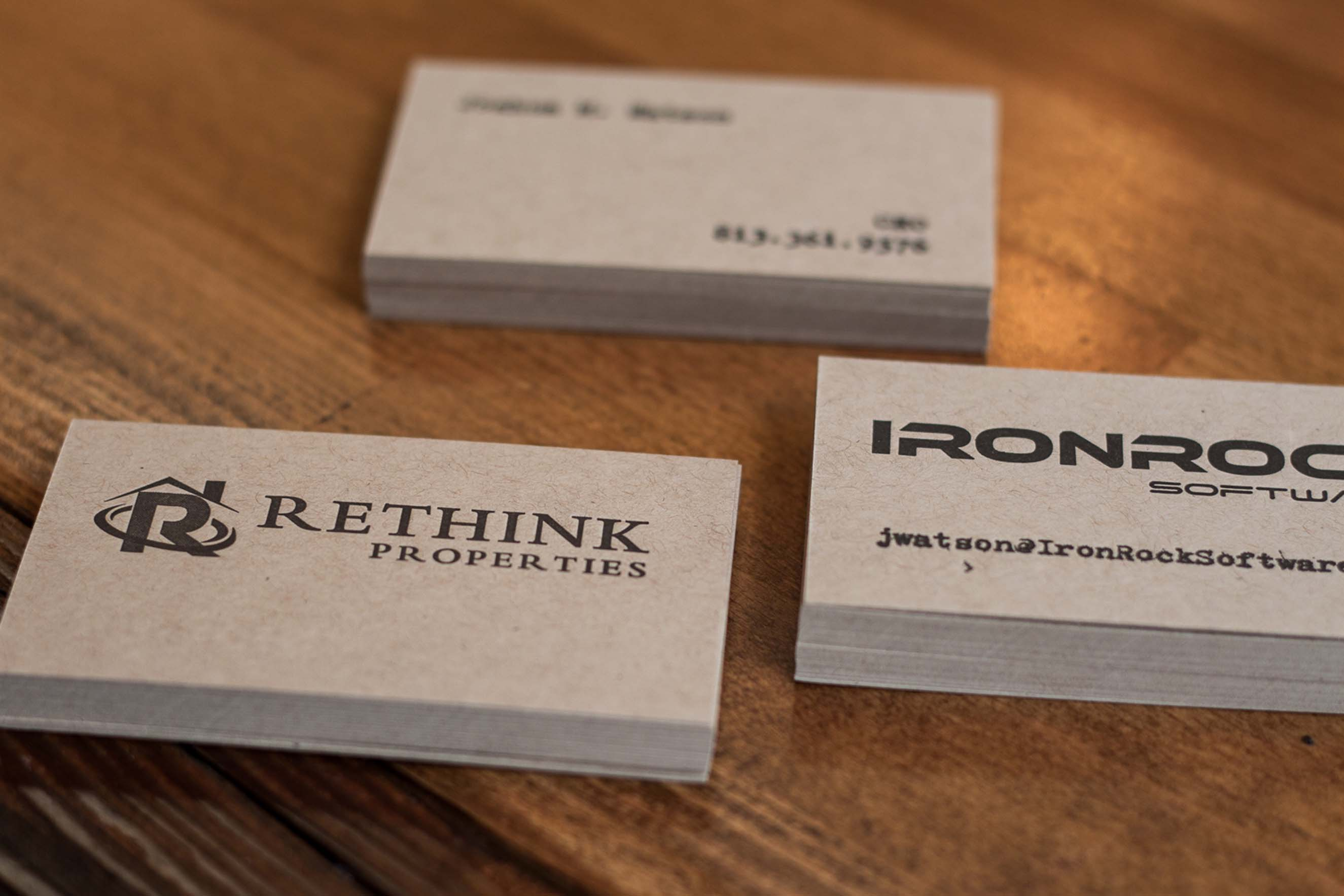 A pair of letterpress business cards a fine press recently reheart Images