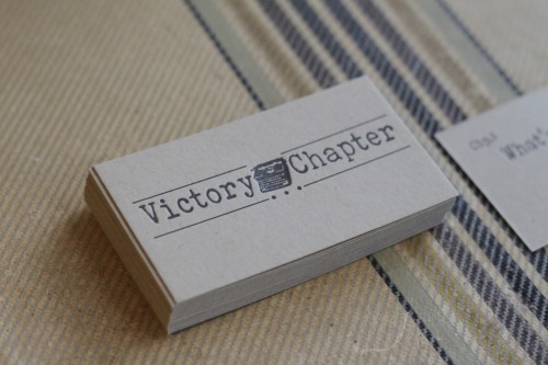 Kraft paper a fine press kraft letterpress business cards for victory chapter reheart Gallery