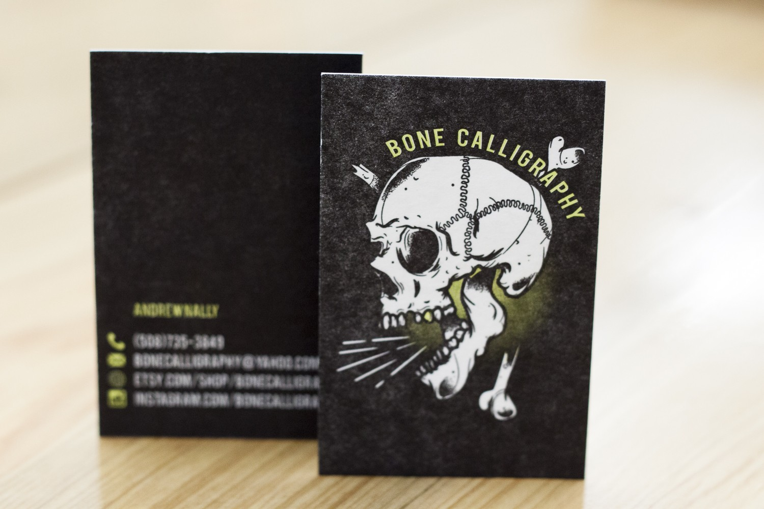 BoneCalligraphy Letterpress Business Cards by A Fine Press-2