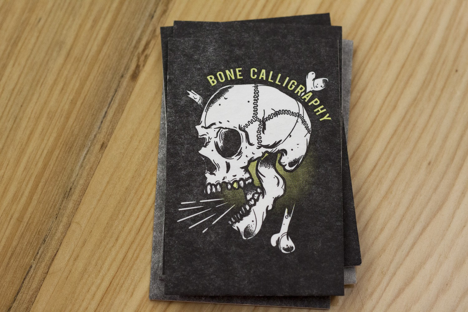 BoneCalligraphy Letterpress Business Cards by A Fine Press-4
