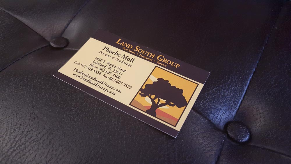 The original Land South Group card - what we were replacing.