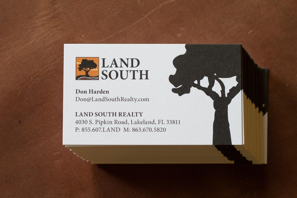 The standard LandSouth card.