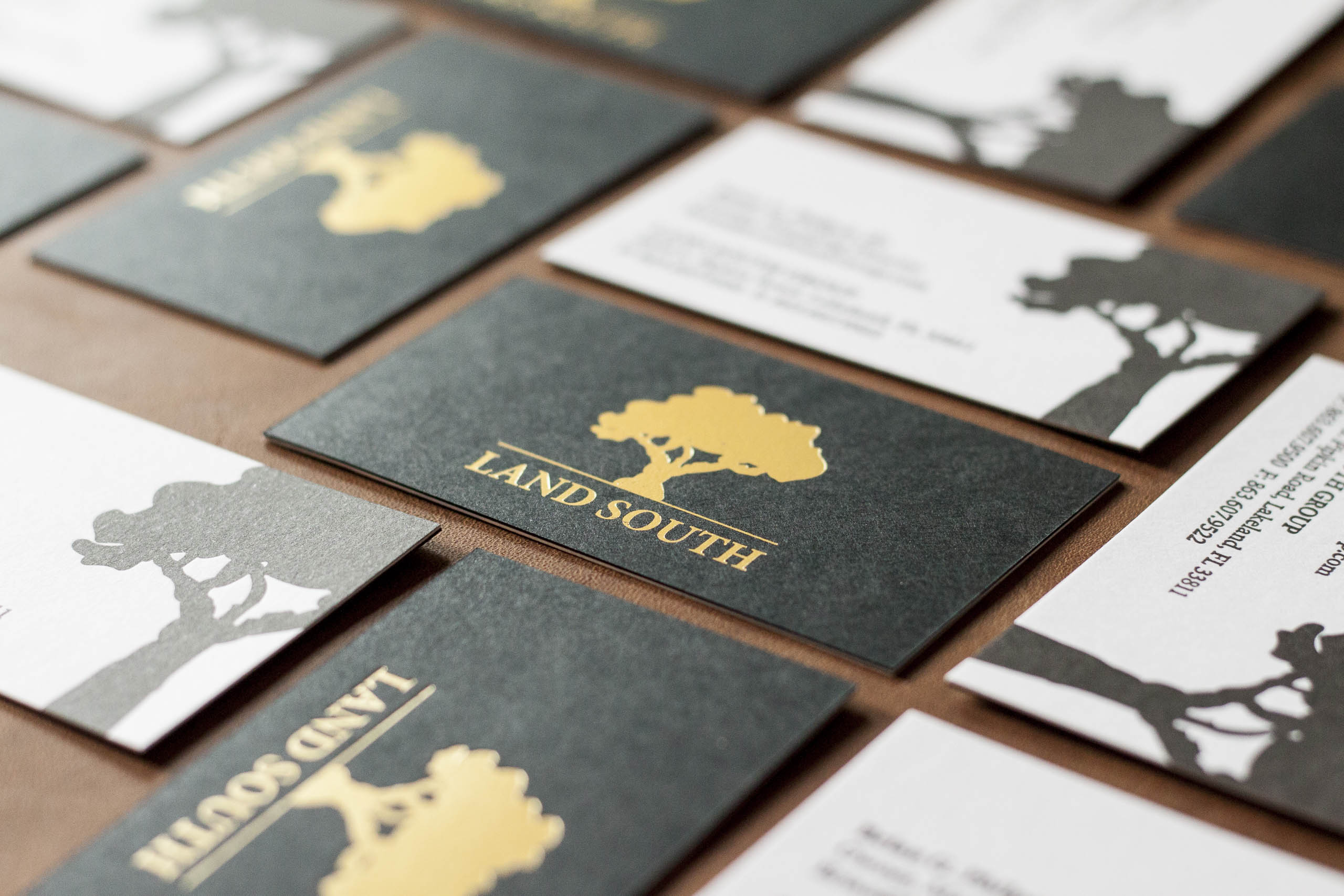luxe business cards for an agricultural pany a fine press