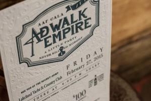 AdWalk Empire Letterpress Invitations