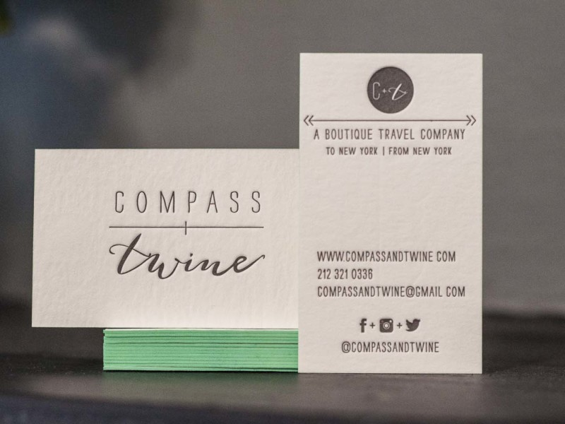 Compass and Twine Letterpress Business Cards - A Fine Press-1