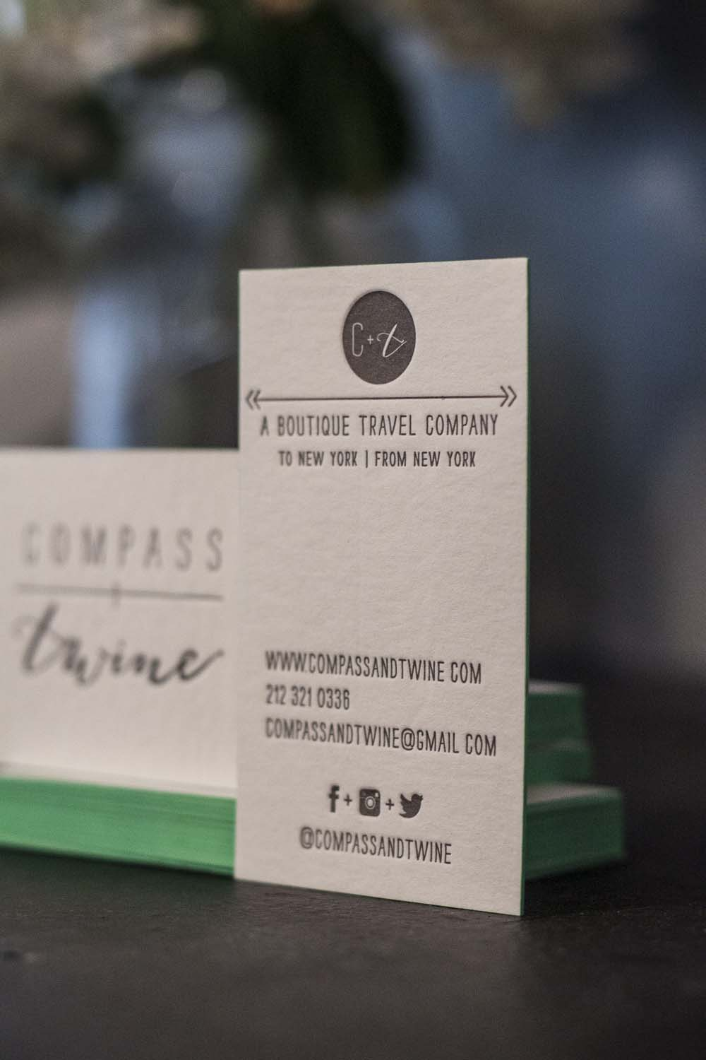 Compass and Twine Letterpress Business Cards - A Fine Press-2