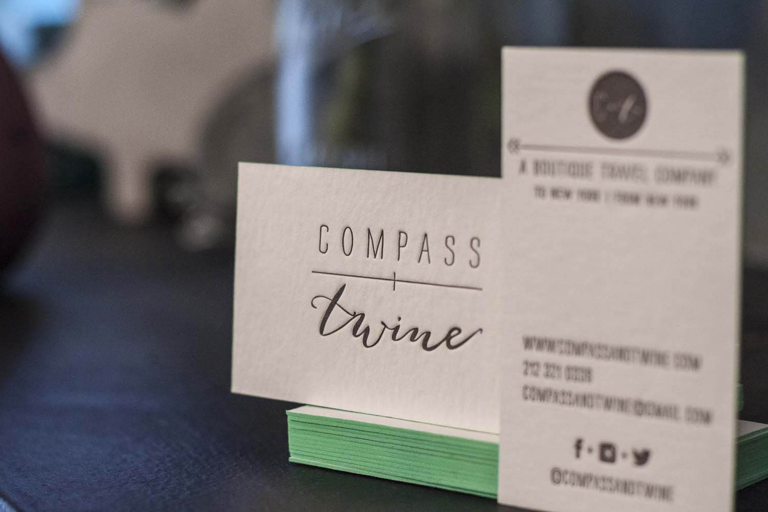 Compass and Twine Letterpress Business Cards - A Fine Press-3