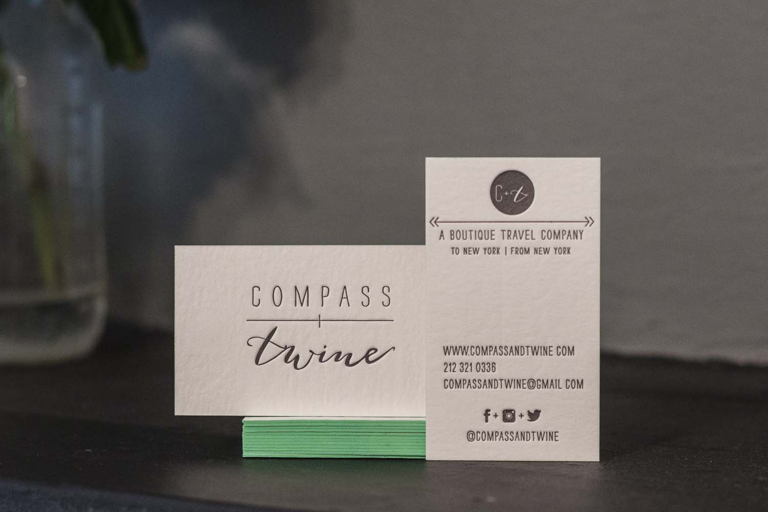 Compass & Twine's Business Cards