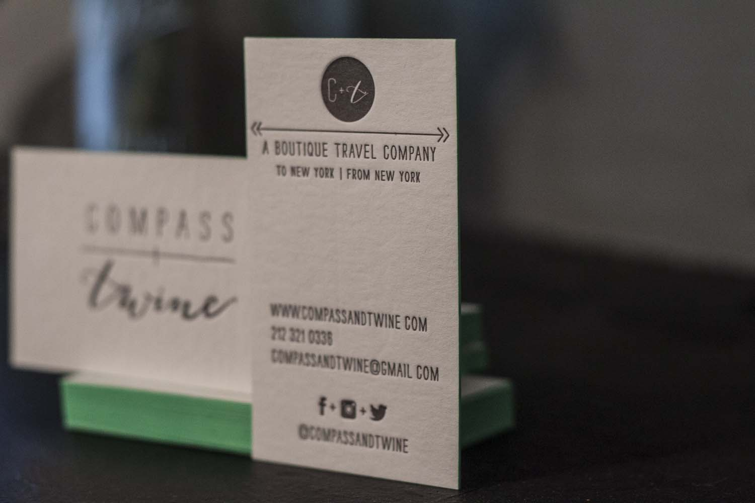 Compass and Twine Letterpress Business Cards - A Fine Press-5