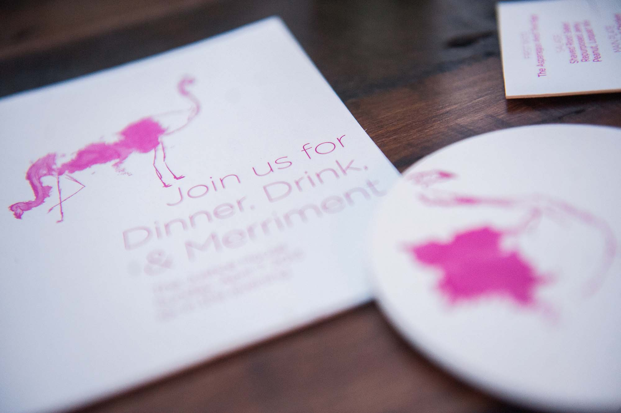 Dinner Party Letterpress Invitations - A Fine Press