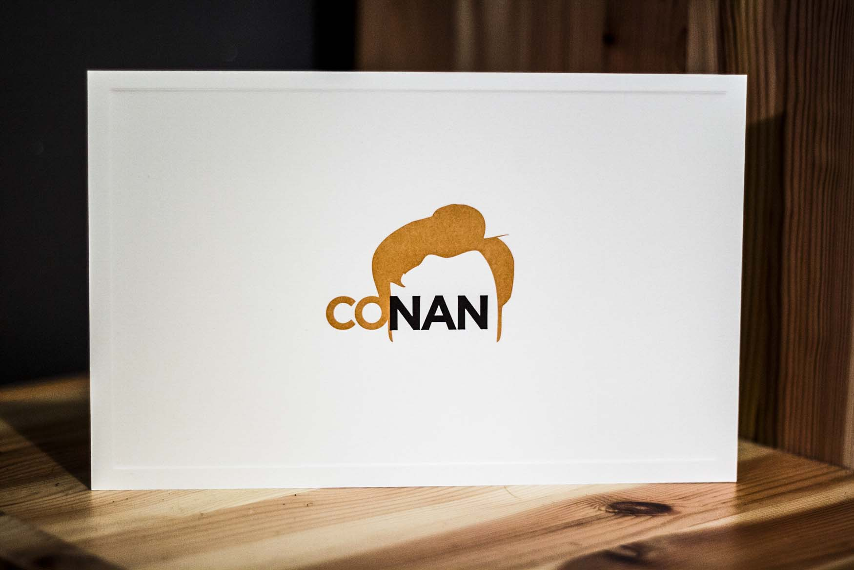 Letterpress Notecards for Conan OBrien by A Fine Press04