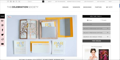 As Seen In | Celebration Society