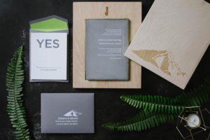 Luxury Concrete Wedding Invitation