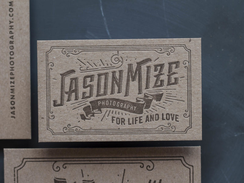 Letterpress Business Cards for a Wedding Photographer-14