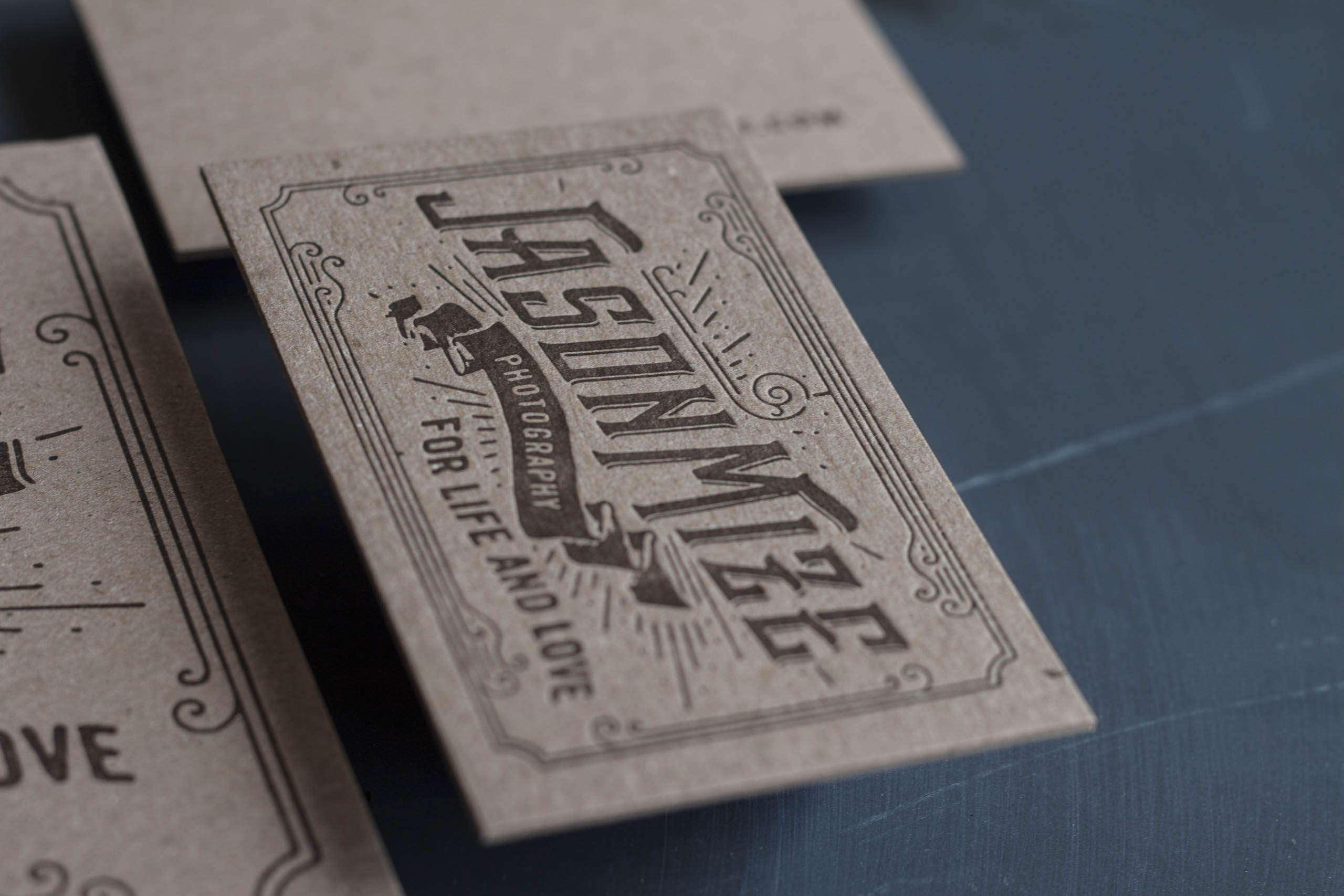 Letterpress Business Cards for a Wedding Photographer-16