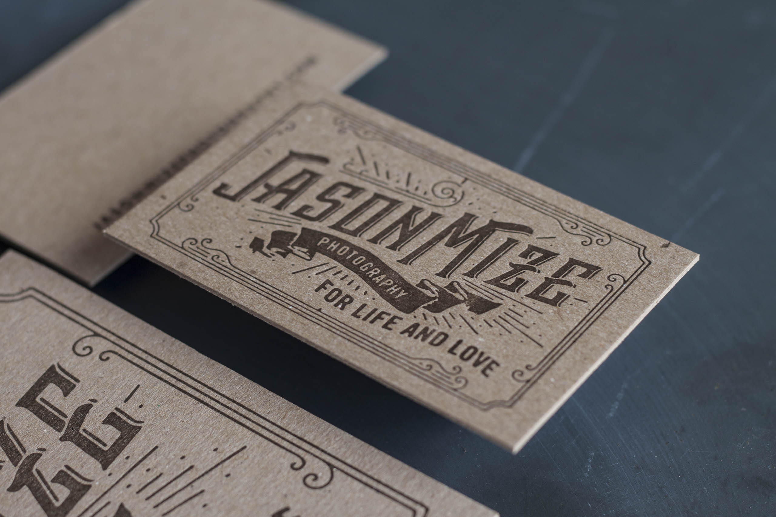 how thick are letterpress invitations and business card papers - Letterpress Business Cards