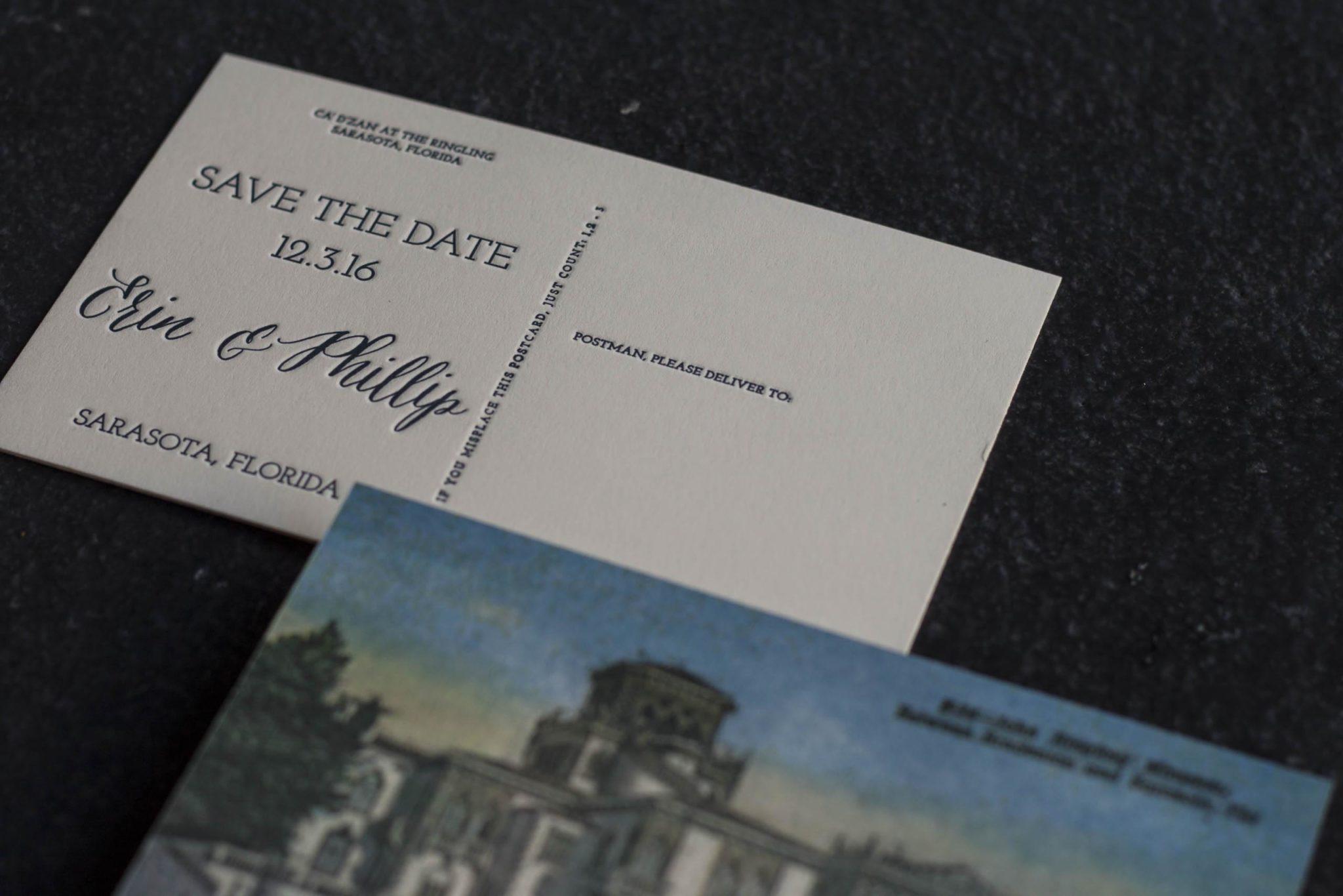 4-color CMYK Letterpress Postcard - A Fine Press