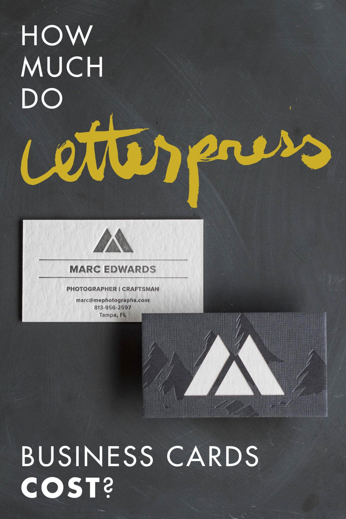 how much do letterpress business cards cost a fine press