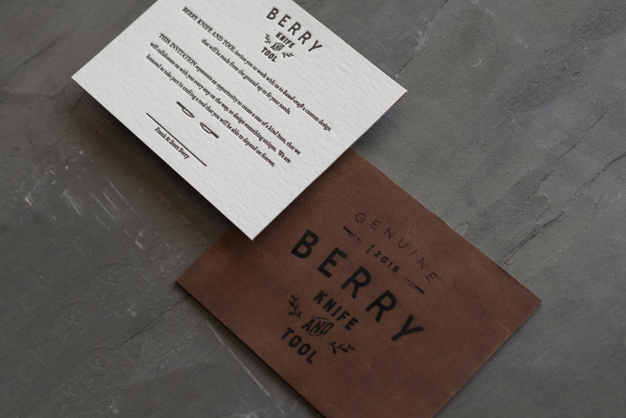 Leather + Letterpress gift certificates