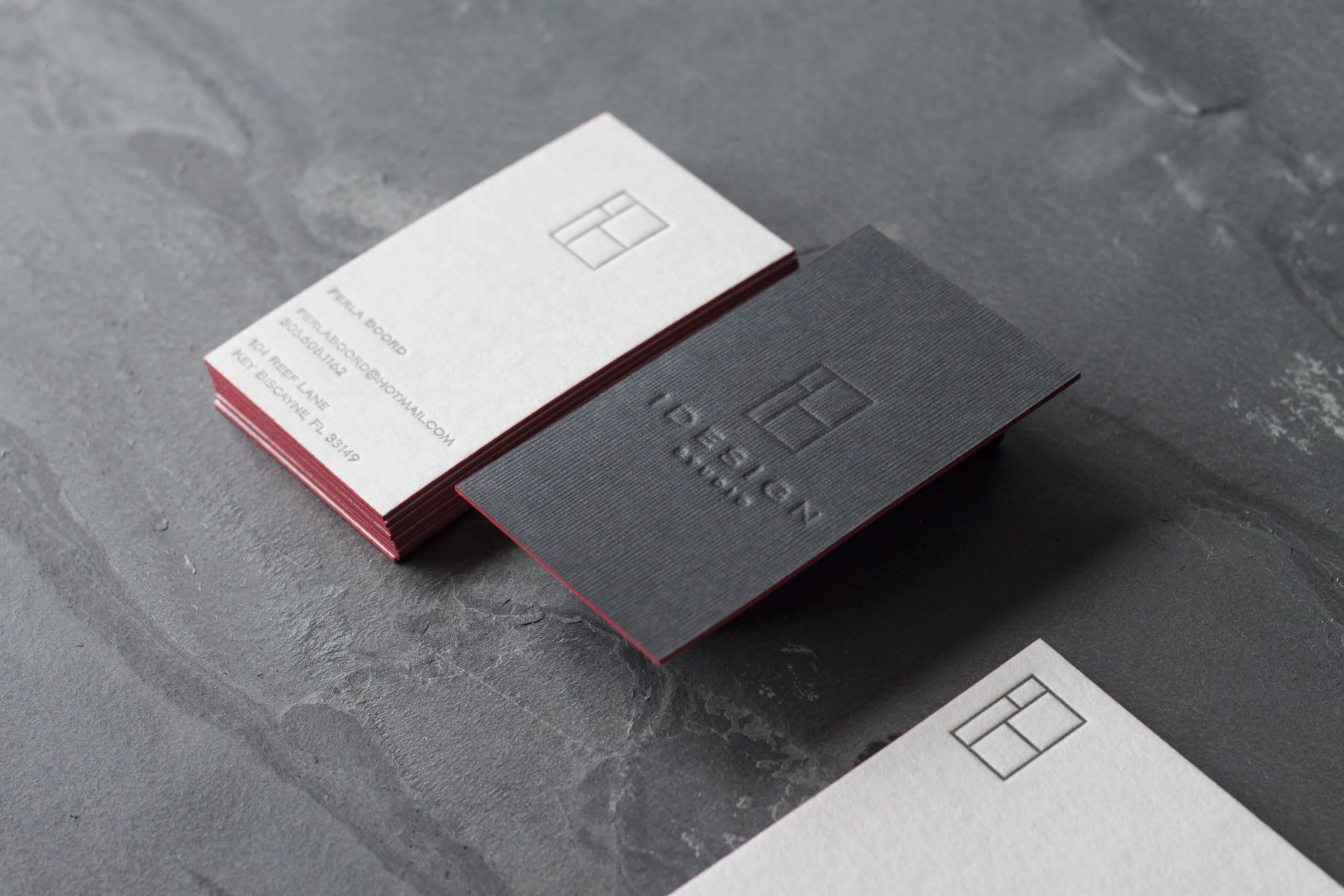 Modern Luxury Stationery for a South Florida Designer - A Fine Press