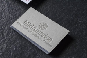 Executive Letterpress + Digital  Business Cards for MidAmerica