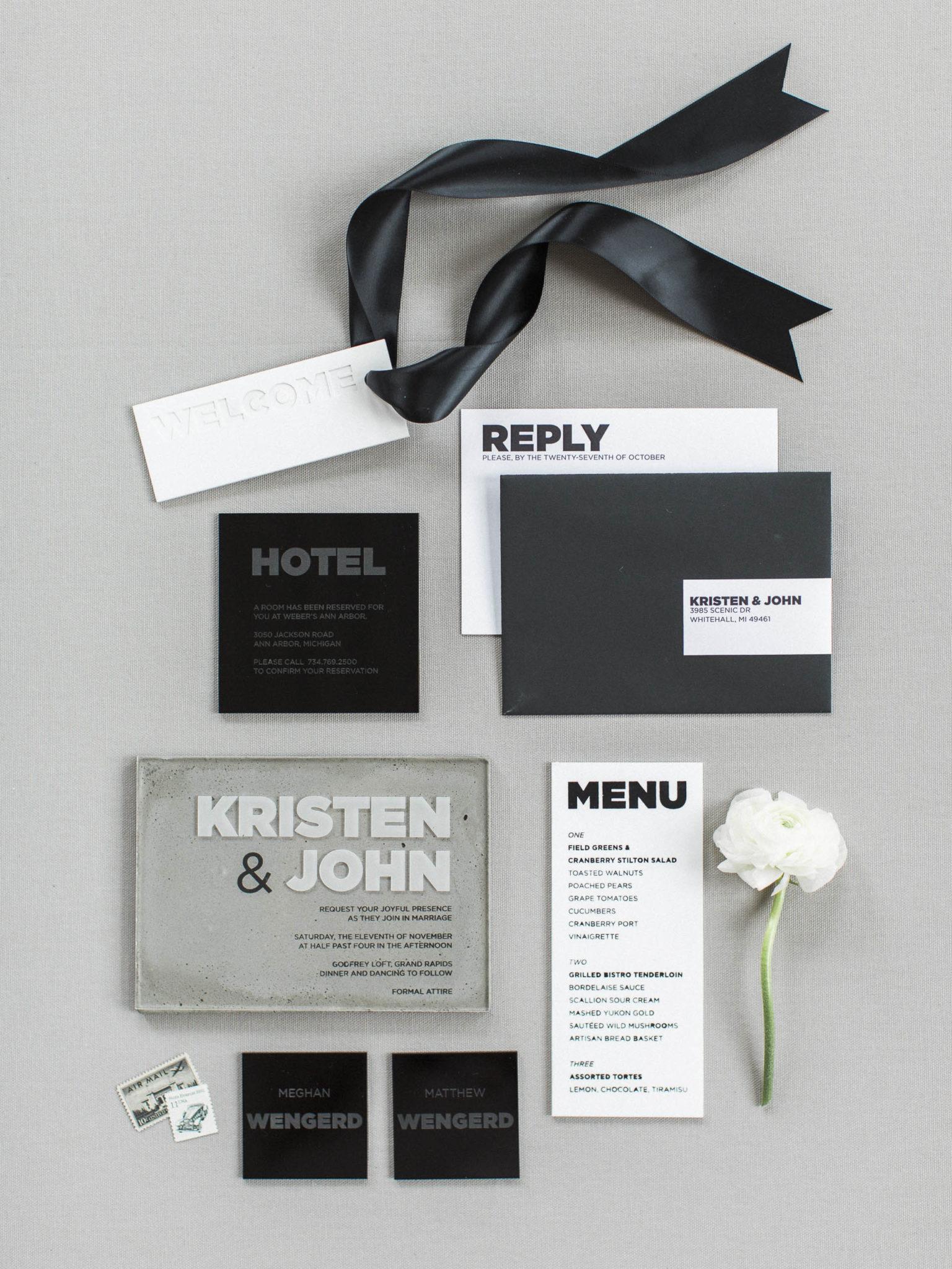 Acrylic + Concrete Masculine Elegance - Weddings - A Fine Press