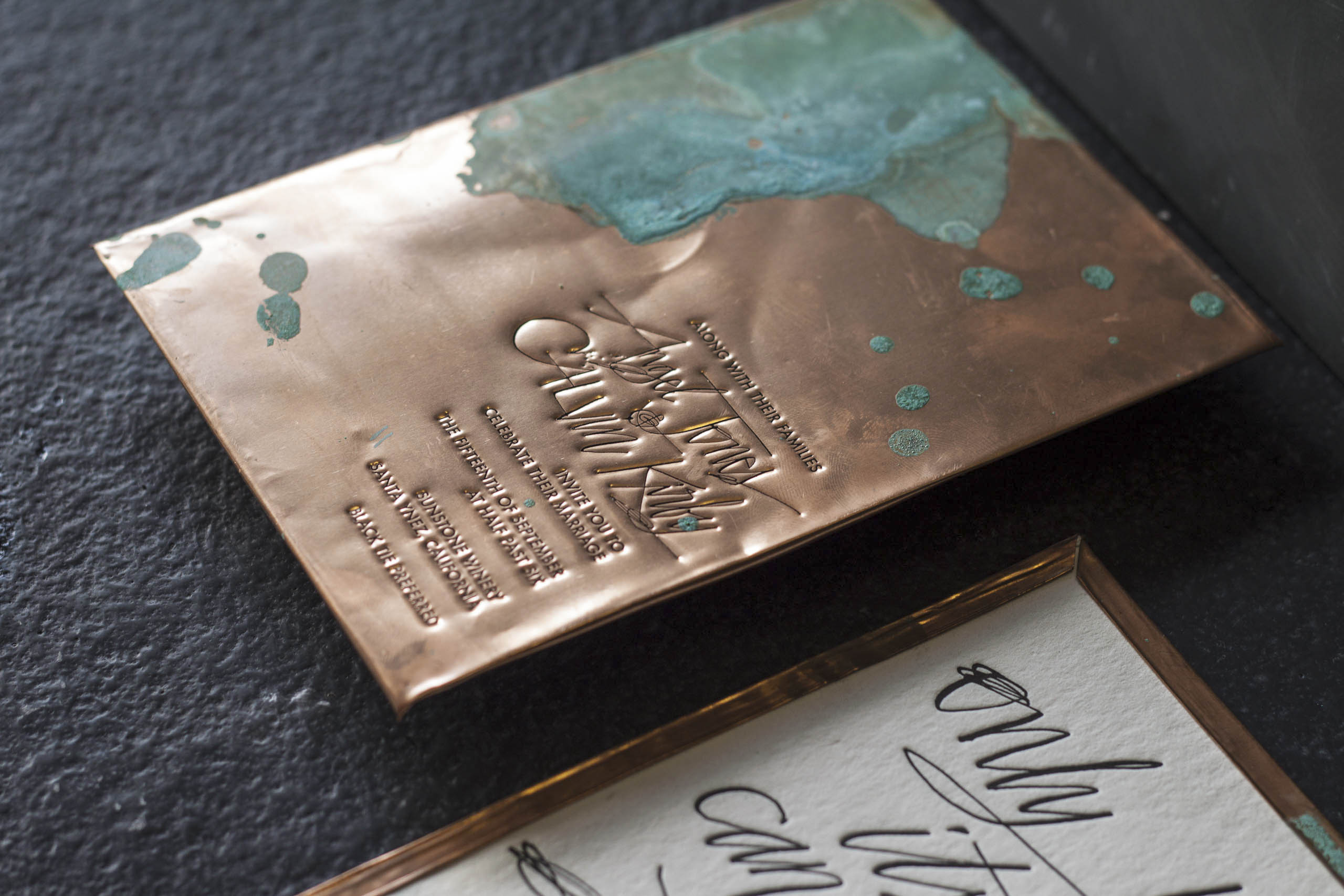 copper wedding invitation from A Fine Press-3