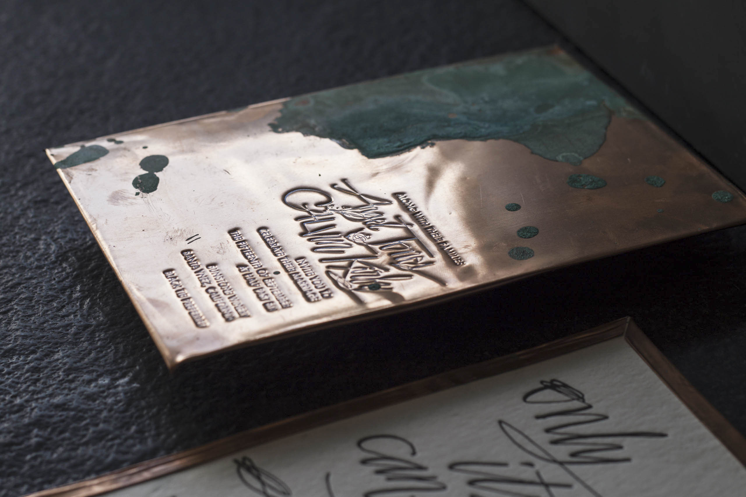 copper wedding invitation from A Fine Press-6
