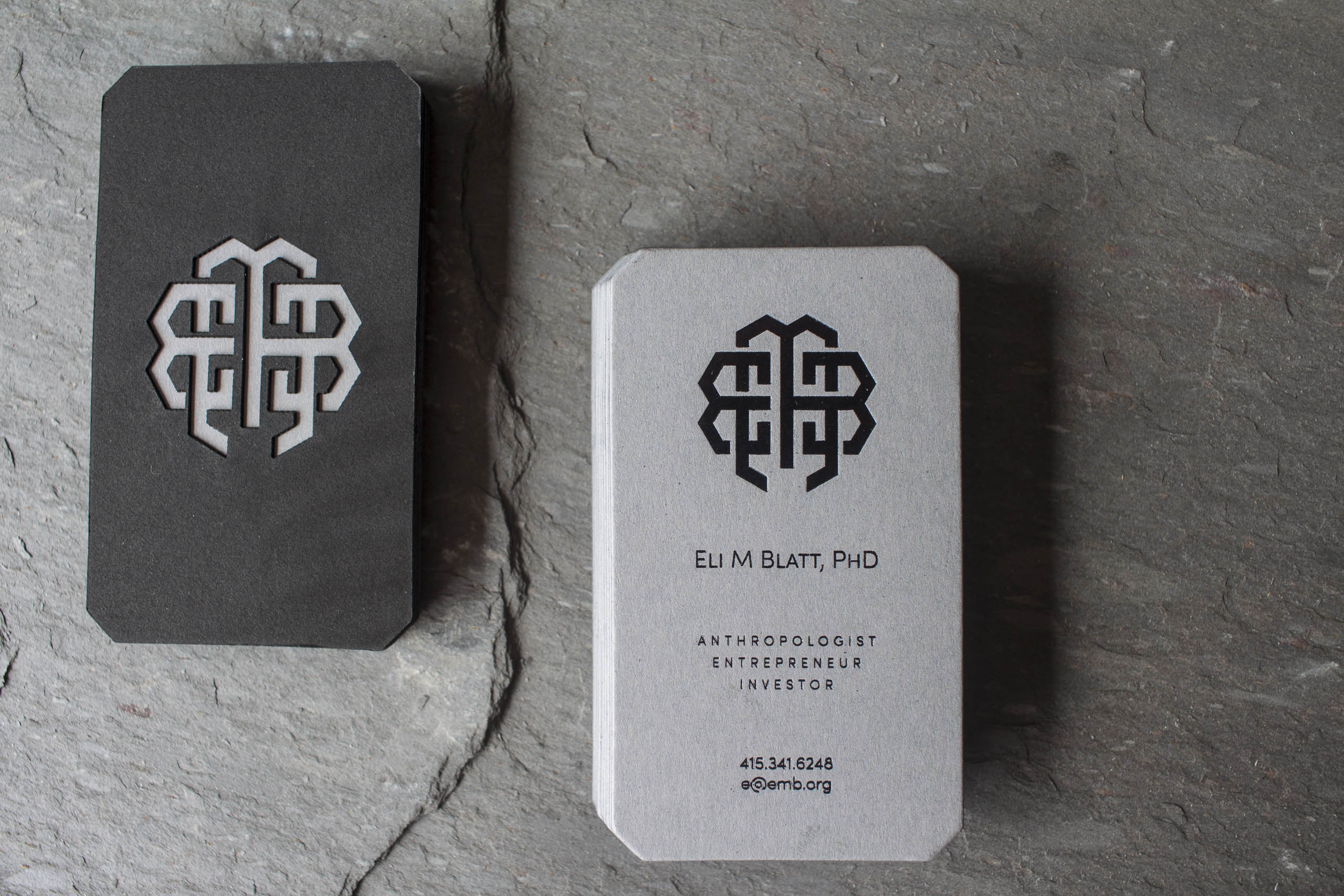 Laser-cut Foil Stamped Business Cards by A Fine Press