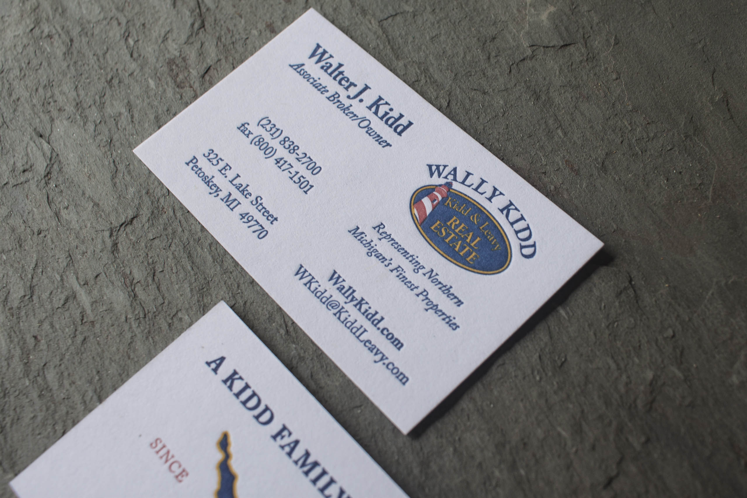 Luxury real estate business cards for wally kidd a fine press afp 2017324 5 reheart Gallery