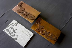 Etched Copper Business Cards