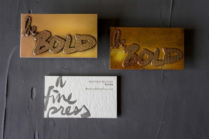 Our copper business cards
