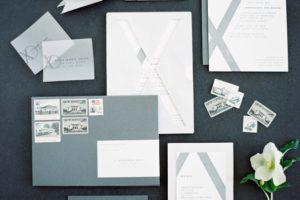 Brushed Aluminum Luxury Wedding Invitations