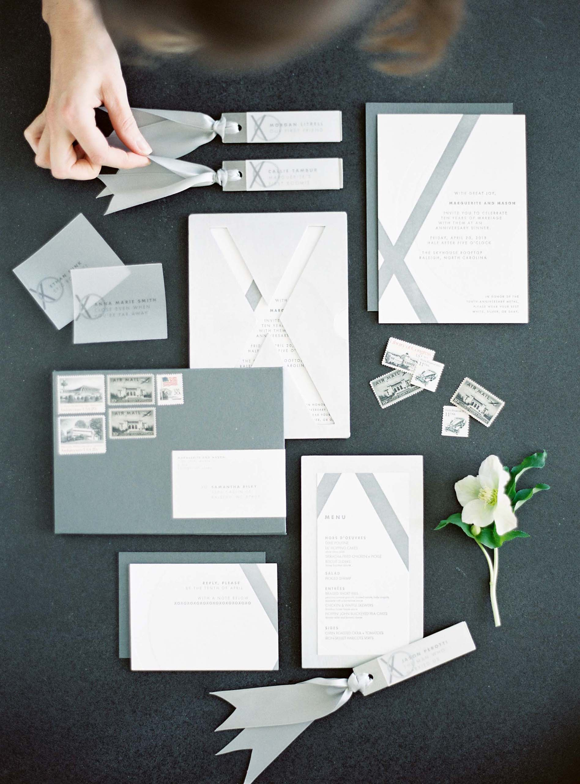 A Modern Masculine Luxury Stationery Suite