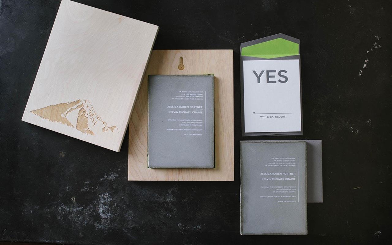 Concrete Wedding Invitation