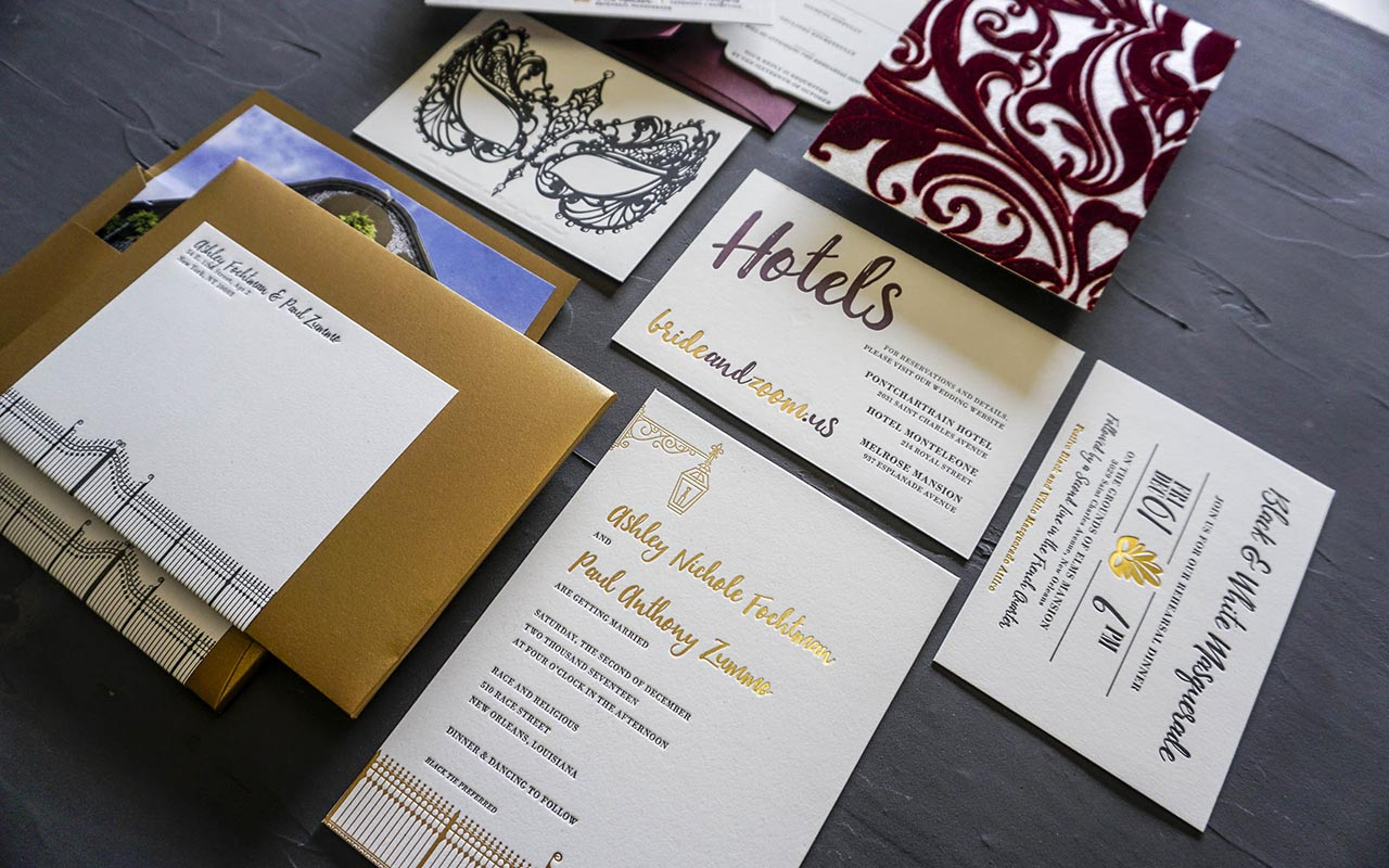 Fuzzy New Orleans Wedding Invitations