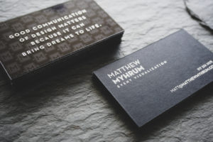 Matthew Myhrum | Luxury Acrylic Business Cards